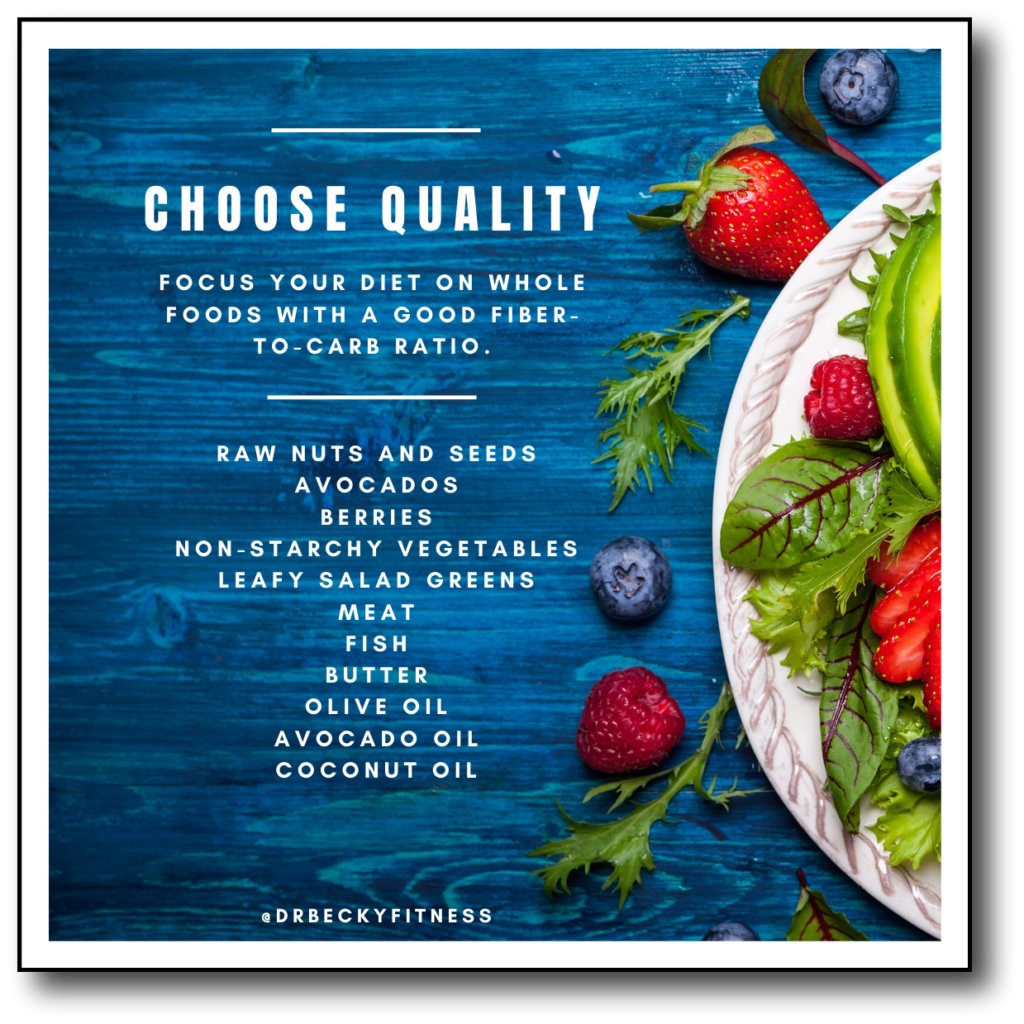choose quality fats for better macros on your low carb diet