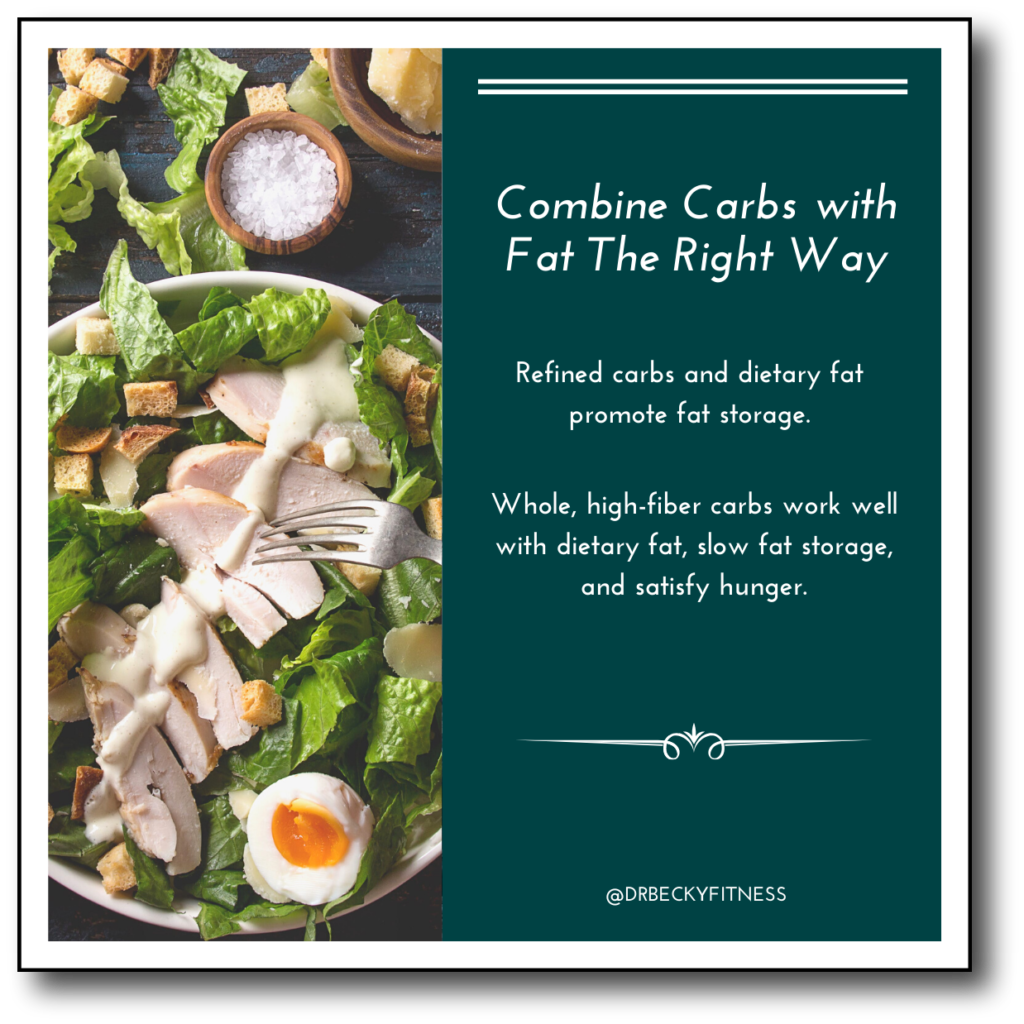combine carbs with fat the right way it improve macros