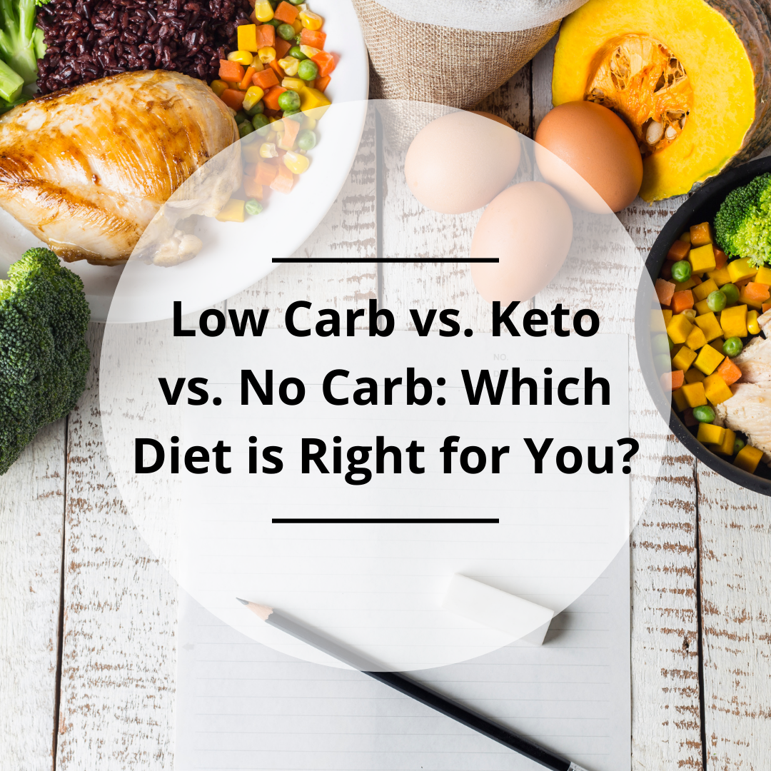 Low Carb vs. Keto vs. No Carb: Which Diet is Right for You?