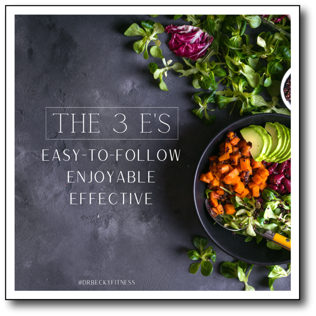 Dr. Becky's 3 E's - low carb dieting