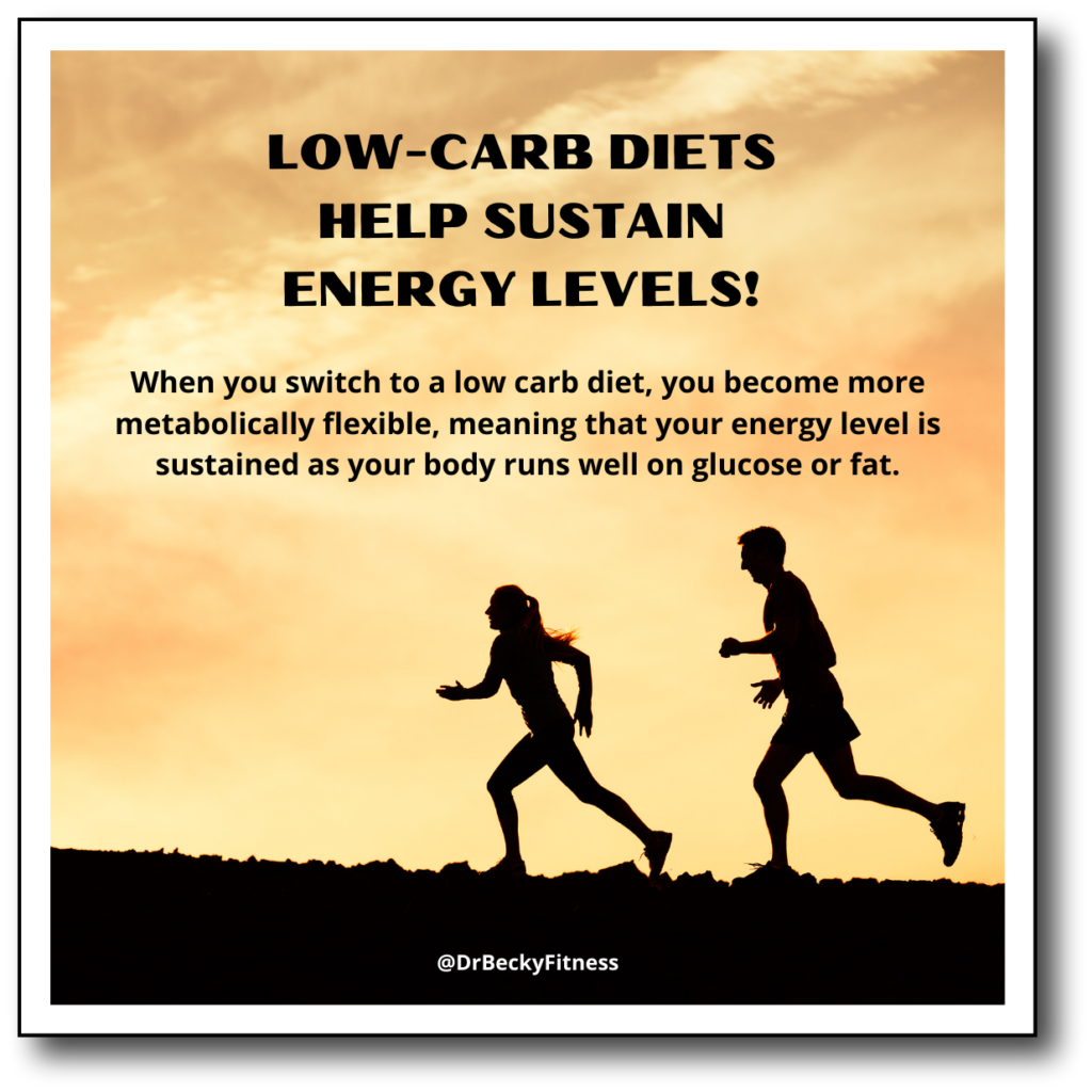 low carb diets help sustain energy levels