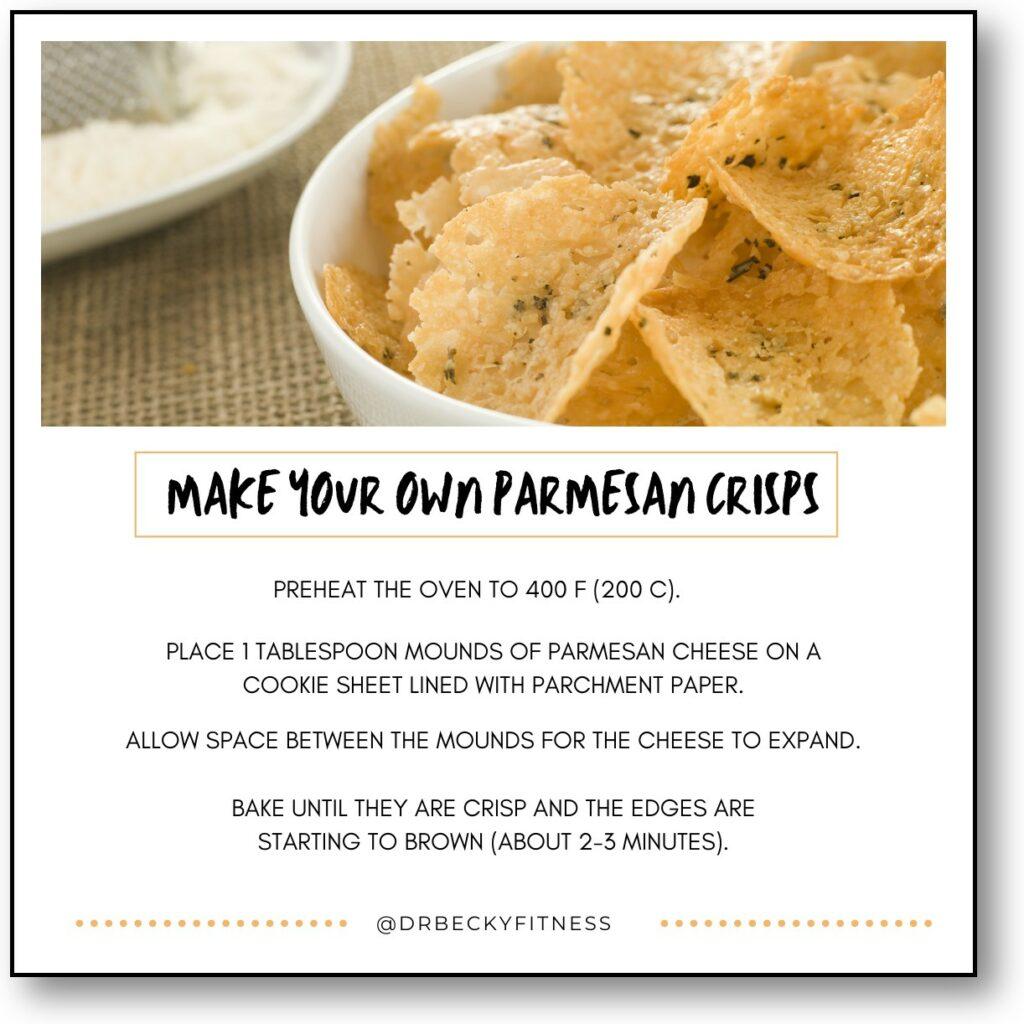 Make your own parmesan crisps!