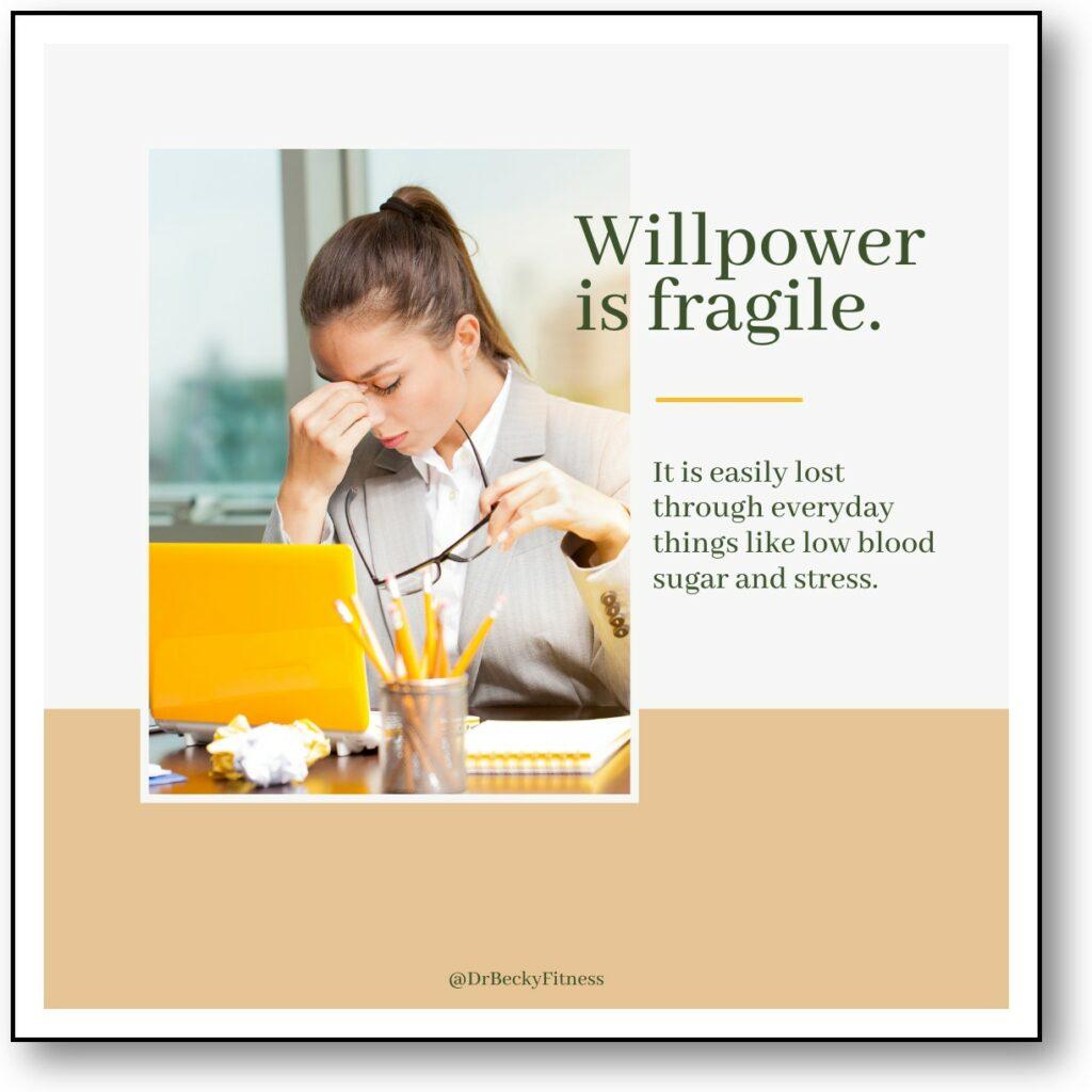 Willpower if fragile.