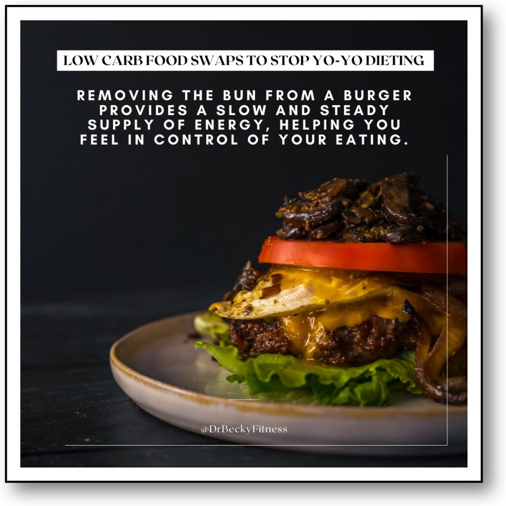 remove the bun from your burger to stop yo-yo dieting