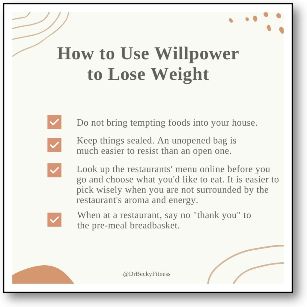 how to use willpower to lose weight