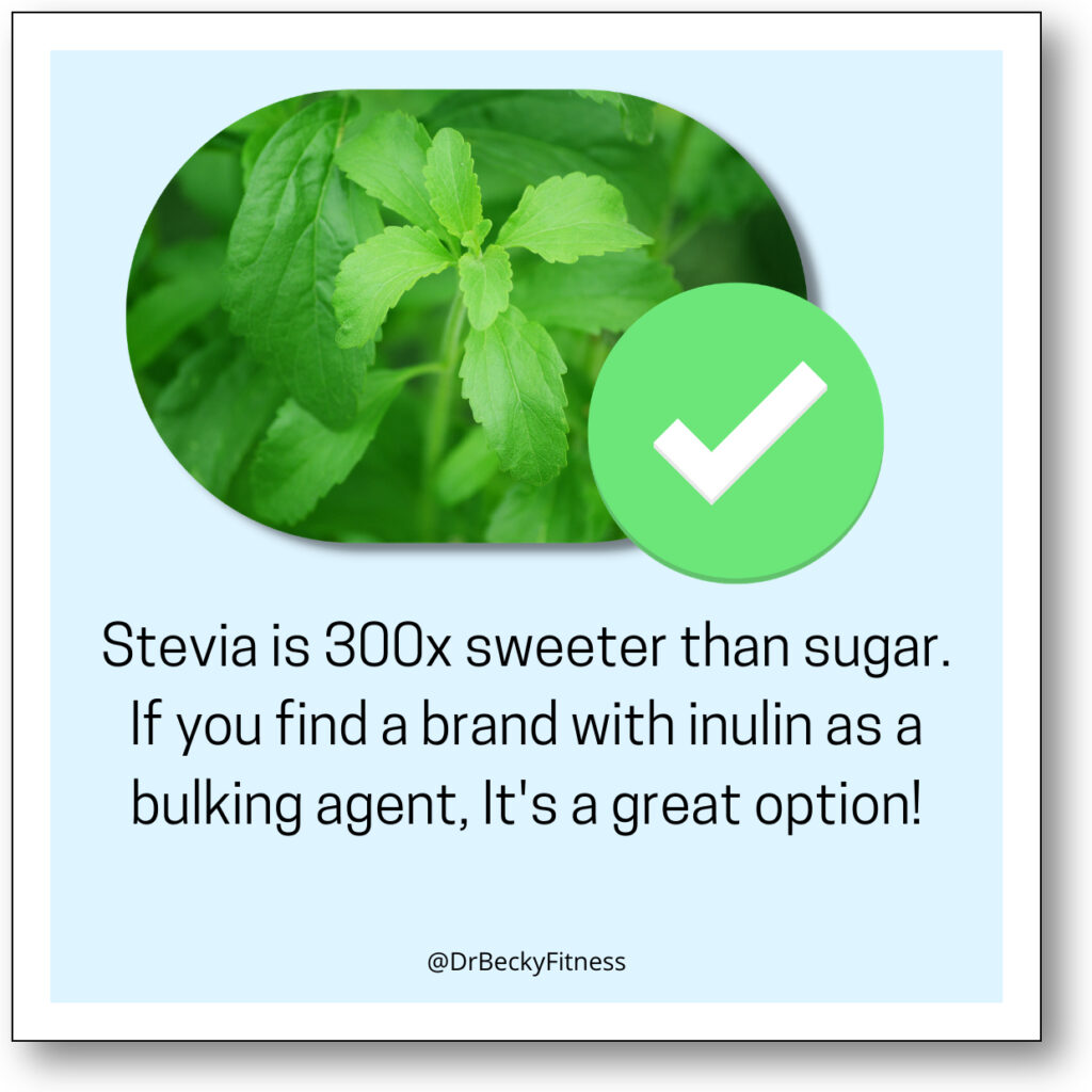 Sugar Substitute on keto - stevia