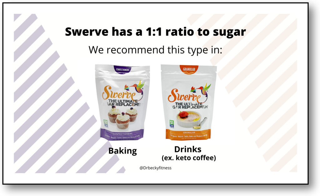 Sugar Substitutes on Keto - Swerve Types